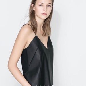 Zara Faux Leather Tank Top